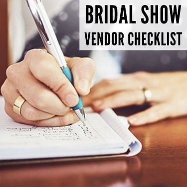 Bridal Show Vendor Checklist