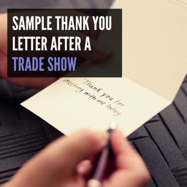 Sample Thank You Letter After a Trade Show