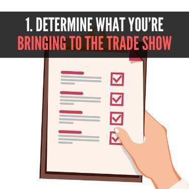 Determine What You're Bringing to the Trade Show