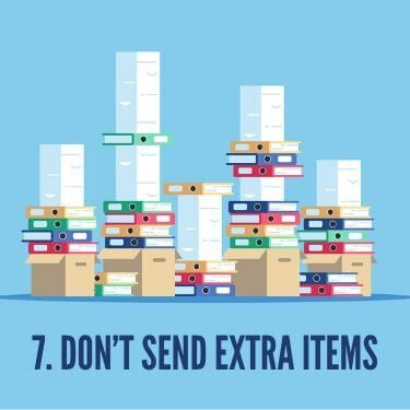 Don't Send Extra Items